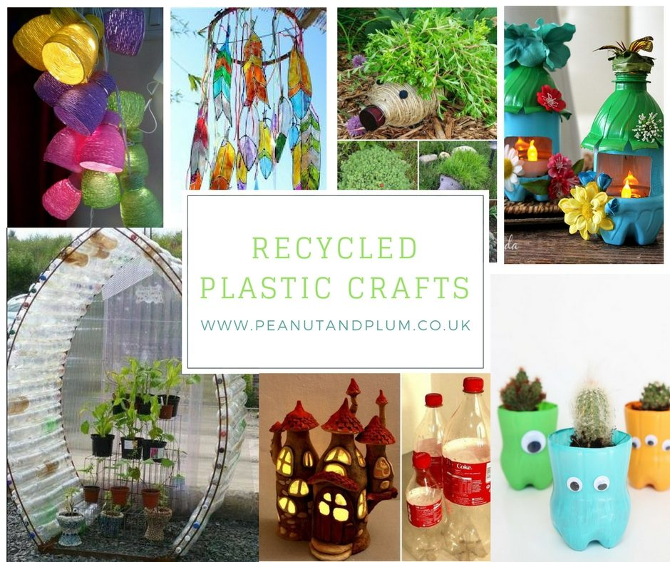 Plastic recyling easy and fun craft ideas peanut plum for Waste material craft items